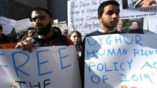 Manifestation à New York pour la libération des Ouïghours, le 5 février 2019.