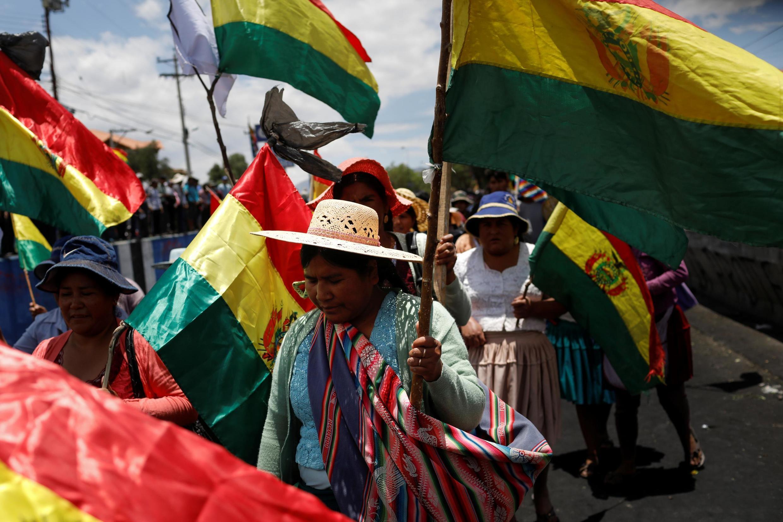 Nông dân biểu tình ở Cochabamba, Bolivia, ngày 20/11/2019.