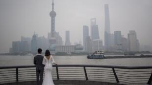 Des mariés à Shangai