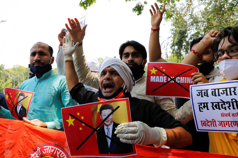Biểu tình phản đối Trung Quốc lấn chiếm biên giới, tấn công quân đội Ấn Độ, ngày 17/06/2020 tại New Delhi.