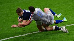 Double damage: Duhan van der Merwe scored two tries
