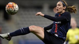 Sabrina Delannoy, joueuse du Paris Saint-Germain.