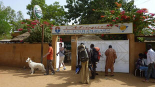 The front of the Le Toulousain restaurant in Niamey from where the French men were abducted