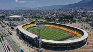 Vista aérea del estadio El Campín ubicado en la ciudad de Bogotá, capital de Colombia