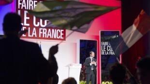 Benoît Hamon, le candidat socialiste, en meeting à Villeurbanne, près de Lyon, le 11 avril 2017.