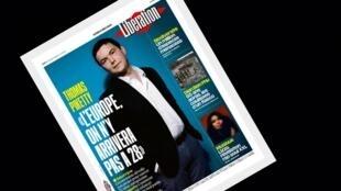 """Na capa do jornal Libération, o economista Thomas Piketty lança um manifesto para """"transformar a Europa""""."""