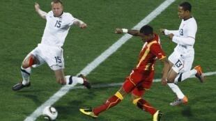Le Ghanéen Kevin Prince Boateng marque dès la 5e mn contre les Etats-Unis.