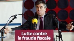 Ảnh chụp ông Jérome Cahuzac hôm 20/11/ 2012 khi còn đương chức trong một hội nghị về chống nạn trốn thuế tại Nanterre, ngoại ô Paris.