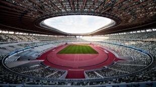 Le nouveau stade national, entièrement reconstruit pour les Jeux de 2020 sur le site de l'ancien stade principal des Jeux de 1964.
