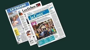 Capa dos jornais franceses, Le Figaro, Les Echos e La Croix desta quarta-feira, 24 de julho
