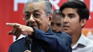 Thủ tướng Malaysia Mahathir Mohamad, trong cuộc họp báo ngày 12/05/2018 tại Pataling Jaya