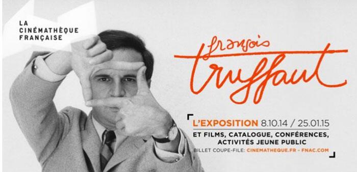 Affiche de l'Exposition Truffaut à la cinémathèque française.