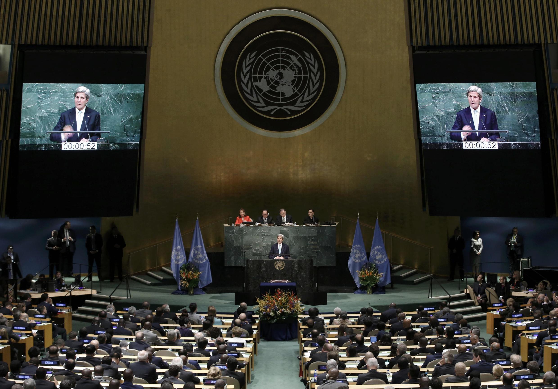 4月22日在聯合國舉行簽署控制氣候變化的《巴黎協議》