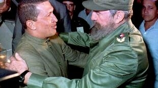 Hugo Chavez y Fidel Castro en La Habana en 1994.