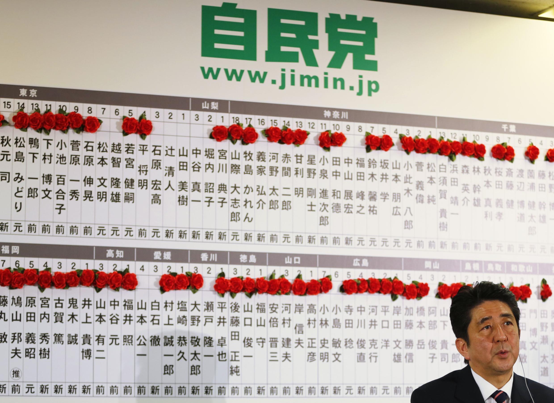日本自民党主席安倍晋三