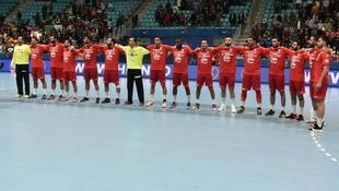 L'équipe tunisienne de handball.