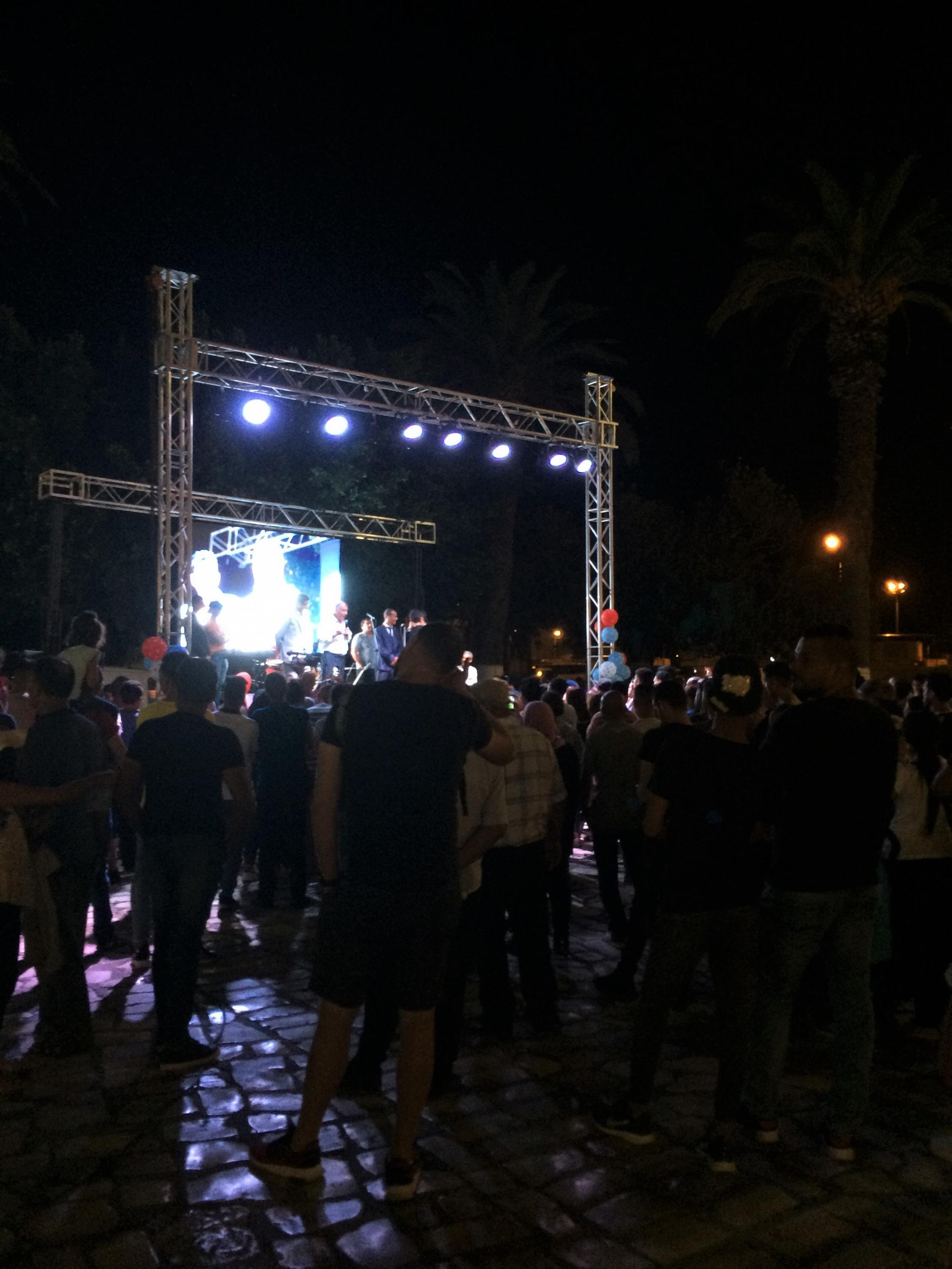 Concert on the final day of electoral campaigning in Sousse, September 13, 2019