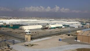 A general view of the Bagram prison compound in the north of Kabul