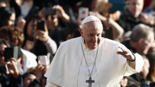 羅馬教皇方濟各在梵蒂岡 2019年11月27日