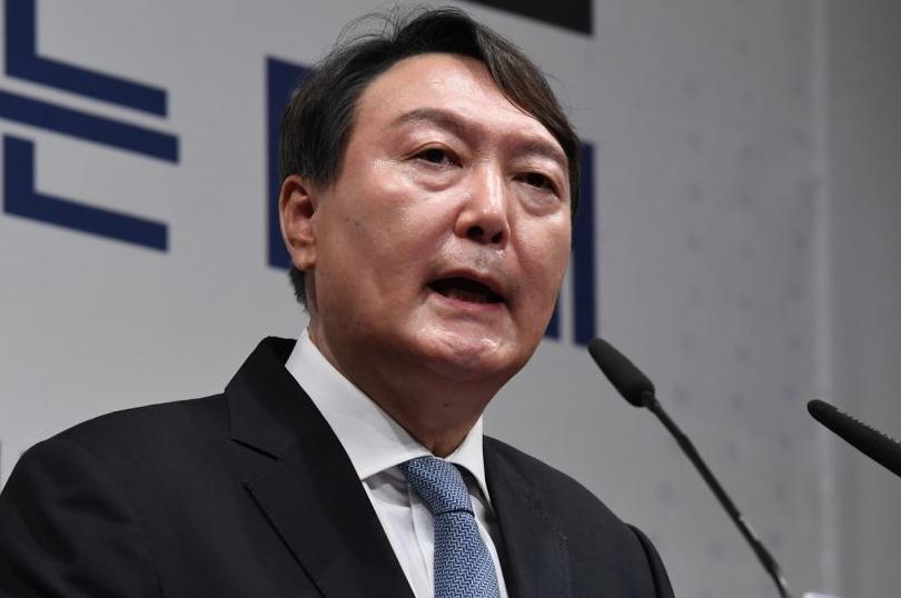 韓國前檢察總長、下屆總統熱門人選尹錫悅資料圖片