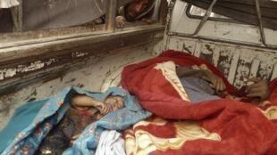 Corpos das vítimas do massacre cometido por soldado americano da Força Internacional presente no Afeganistão.