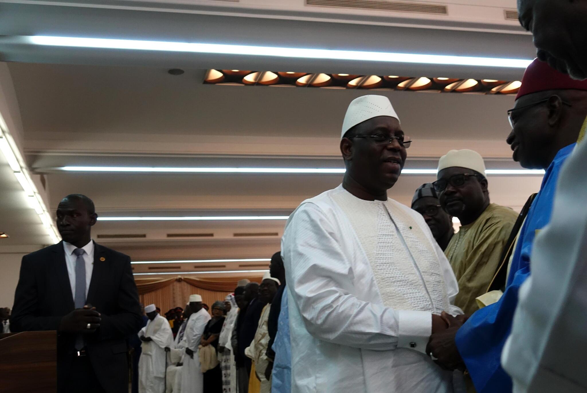 Le président Macky Sall à l'ouverture du dialogue national à la salle des banquets de la présidence, à Dakar, le 28 mai 2019. (image d'illustration)