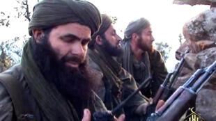 El líder de Al Qaida en el Magreb Islámico (AQMI), el argelino Abdelmalek Droukdal, en un lugar no identificado el 23 de mayo de 2012