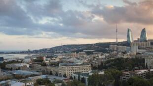 Vue de la vieille ville de Bakou, capitale de l'Azerbaïdjan.