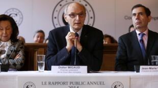 Didier Migaud, le président de la Cour des comptes française, en février 2011.