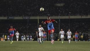 Lors du match nul 2-2 entre les équipe de RD Congo et de Tunisie, le 5 septembre 2017 à Kinshasa, en éliminatoires de la Coupe du monde 2018 de football.