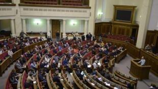 Арсений Яценюк выступает на сессии Верховной Рады 20/02/2014