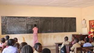 A l'école primaire de Kankan, en Guinée.
