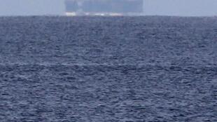 La plateforme pétrolière, Scarabeo 9 au large de la Havane, le 19 janvier 2012.