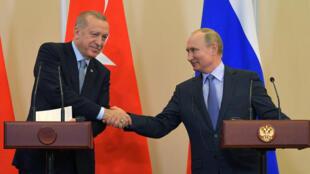 رؤسای جمهوری روسیه و ترکیه