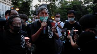 香港支联会主席何俊仁等纪念六四31周年资料图片