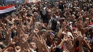 Protestors gathered in Sanaa are calling for President Ali Abdullah Saleh to step down
