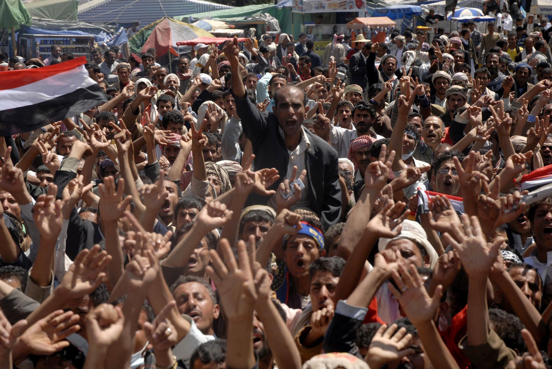 Protestors gathered in Sanaa are calling for President Ali Abdullah Saleh to step down