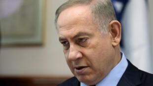 O primeiro-ministro israelense, Benyamin Netanyahu, no dia primeiro de janerio de 2017, em Jerusalém.