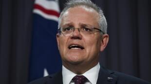 澳大利亚总理莫里森资料图片