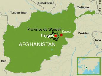 Taswirar yankin  Wardak a Afganistan.