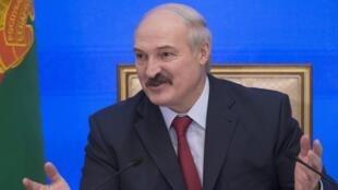 Александр Лукашенко во время пресс-конференции 29/01/2015