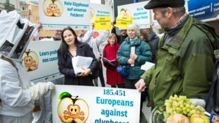 Manifestación contra el uso del glifosato en la agricultura.