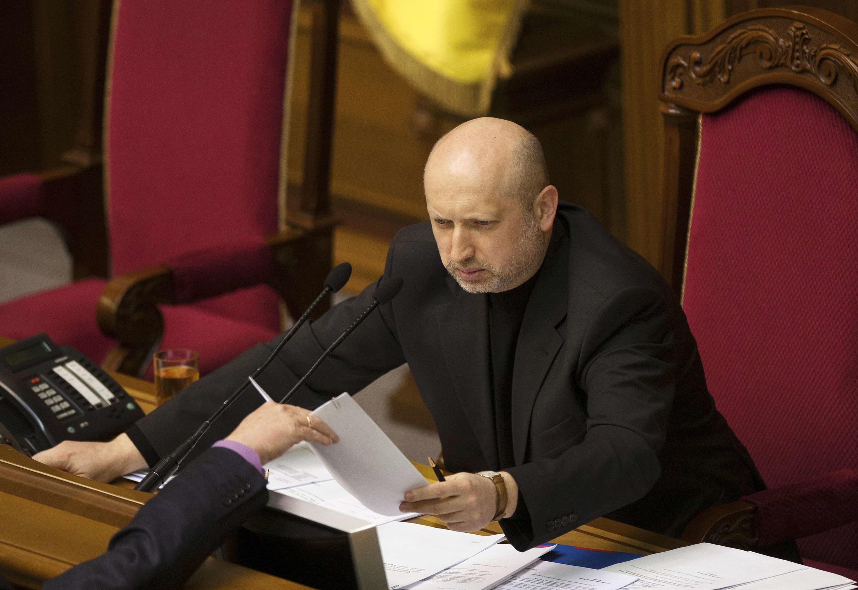 O presidente em exercício da Ucrânia, Oleksander Turchinov
