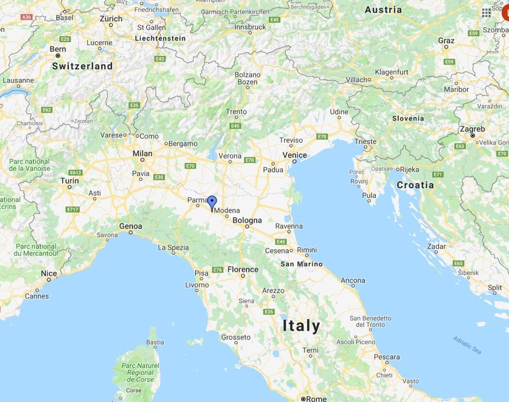 Map of Reggio Emilia