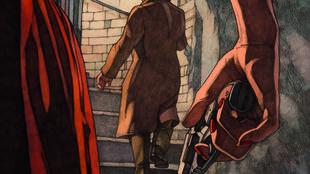 Couverture de la bande dessinée «Le coup de Prague», de Miles Hyman et de Jean-Luc Fromental.
