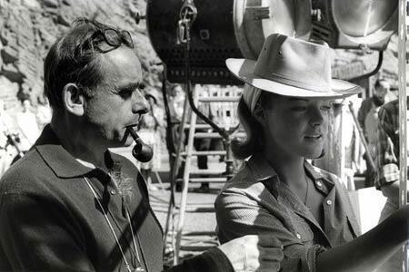 Henri-Georges Clouzot et Romy Schneider.