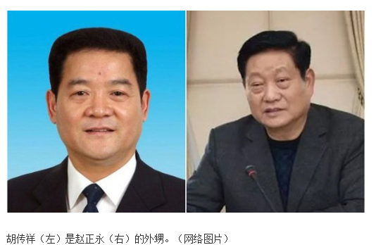 网传图片:胡传祥 赵正永