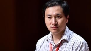 He Jiankui, en novembre 2018 à l'occasion du second Sommet international de l'édition du génome humain à Hong Kong.