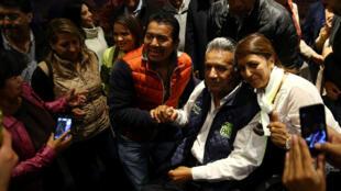 Le favori de l'élection présidentielle équatorienne, Lenin Moreno, le 20 février 2017 à Quito.