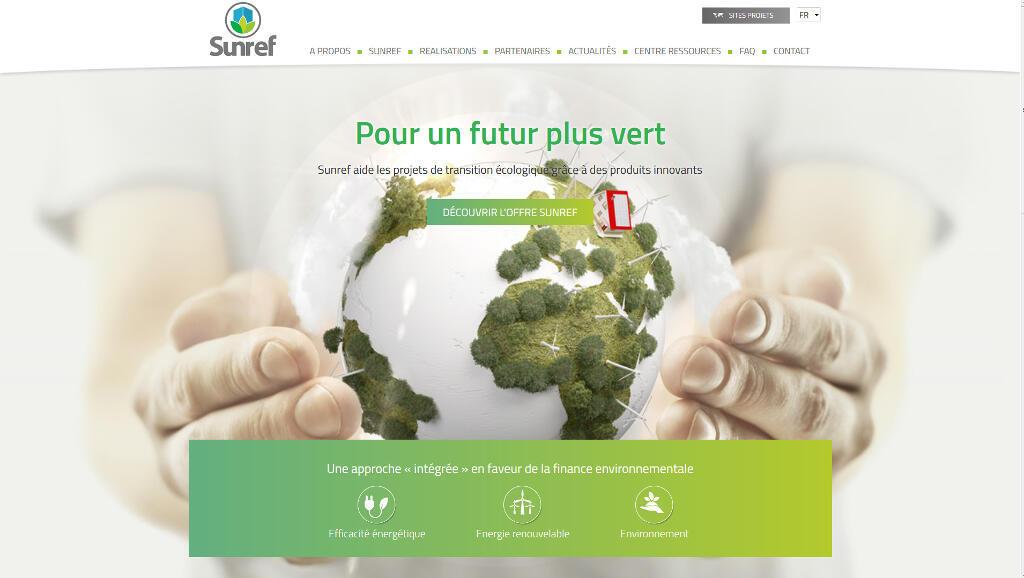 Capture d'écran du site <i>www.sunref.org</i> de l'AFD.